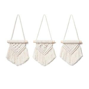 3 Mini Handmade Cotton Hanging Macrames